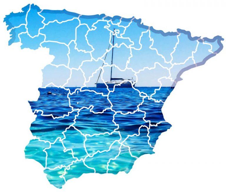 Mapa Playas de España